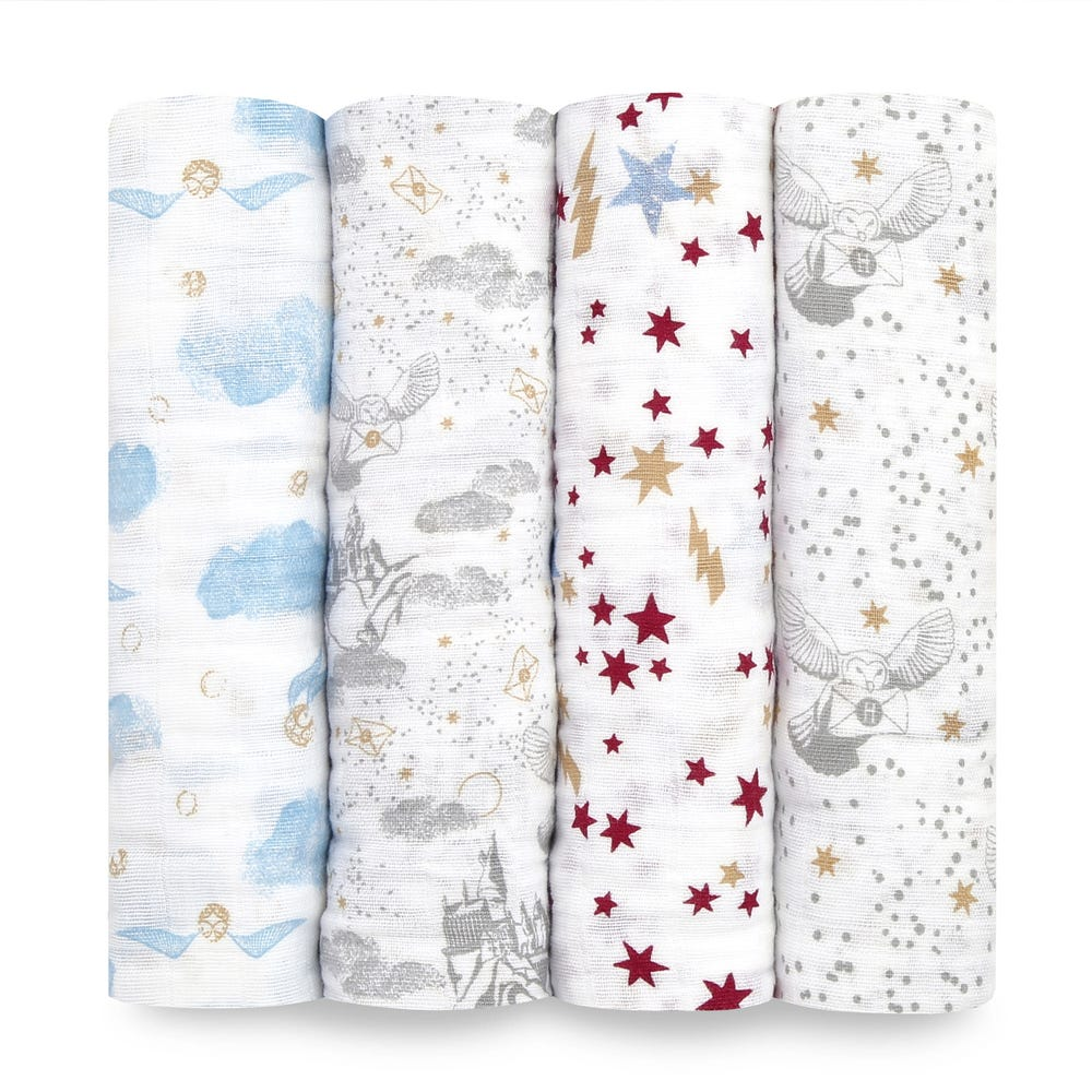 Harry-Potter-baby-swaddles-cotton-muslin-4-pk